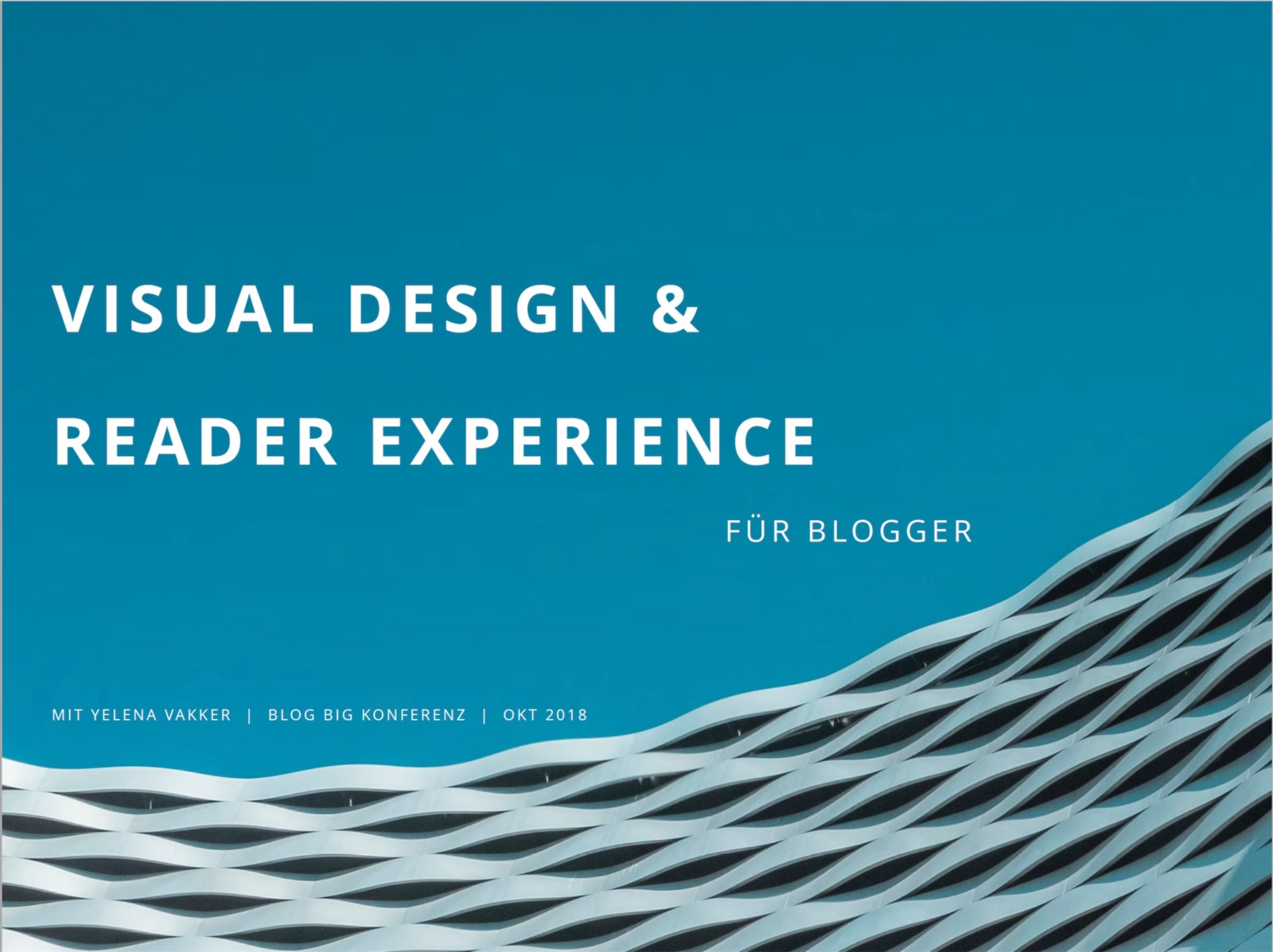 Workshop: Visual Design & Reader Experience for bloggers